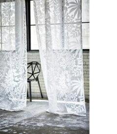 スミノエ SUMINOE レースカーテン ヨセウエボイル(100×133cm/ホワイト)【日本製】