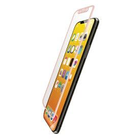 エレコム ELECOM iPhone XS フルカバーガラスフィルム フレーム付 PMCA18BFLGFRPN ピンク