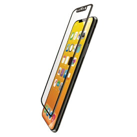 エレコム ELECOM iPhone XS フルカバーフィルム 衝撃吸収 防指紋 高光沢 PMCA18BFLPGRBK ブラック