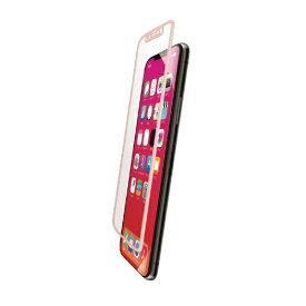エレコム ELECOM iPhone XR フルカバーガラスフィルム フレーム付 PMCA18CFLGFRPN ピンク