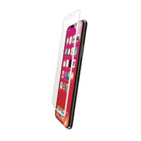 エレコム ELECOM iPhone XR フルカバーガラスフィルム フレーム付 PMCA18CFLGFRWH ホワイト