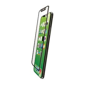 エレコム ELECOM iPhoneXS Max フルカバーガラスフィルム フレーム付 PMCA18DFLGFRBK ブラック