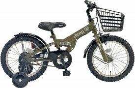 ジープ Jeep 16型 幼児用自転車 JE-16G(オリーブ/シングルシフト) JE_16G【2019年モデル】【組立商品につき返品不可】 【代金引換配送不可】