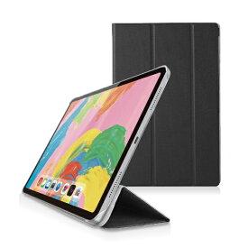 エレコム ELECOM 11インチ iPad Pro(第1世代)用 フラップカバー 背面クリア 2アングル スリープ対応 ブラック TB-A18MWVBK