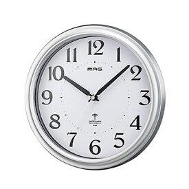 ノア精密 NOA 掛け時計 【MAG(マグ)】 シルバー W-649SMZ [電波自動受信機能有]