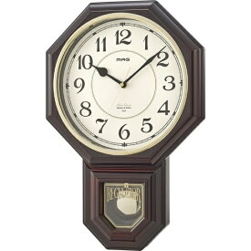 ノア精密 NOA アナログ振り子時計 西洋館 ブラウン W-670BR
