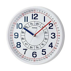 ノア精密 NOA アナログ知育掛け時計 よ〜める ホワイト W-736WH-Z
