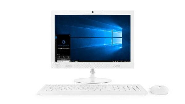 レノボジャパン Lenovo ideacentre AIO 330 デスクトップパソコン [19.5型 /intel Celeron /HDD:1TB /メモリ:4GB /2018年12月モデル] F0D7006AJP ホワイト [19.5型 /HDD:1TB /メモリ:4GB /2018年12月モデル][F0D7006AJP]