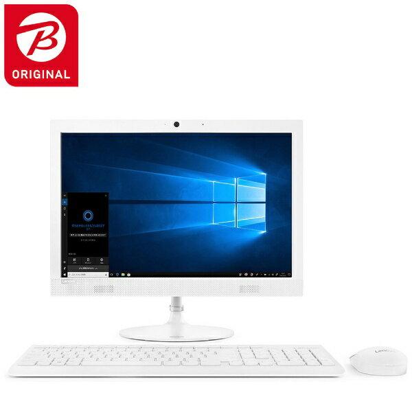 レノボジャパン Lenovo ideacentre AIO 330 デスクトップパソコン [19.5型 /intel Celeron /HDD:1TB /メモリ:4GB /2018年12月モデル] 【ビックカメラグループオリジナル】 F0D7006BJP ホワイト [19.5型 /HDD:1TB /メモリ:4GB /2018年12月モデル][F0D7006BJP]【point