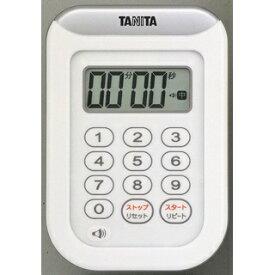 タニタ TANITA 丸洗いタイマー100分計 TD-378-WH ホワイト[TD378WH]