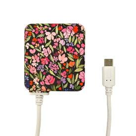ラスタバナナ RastaBanana [micro USB] ケーブル一体型AC充電器 2.1A 1.6m R16ACM2A01GNB グリッターナイト・ブロッサム