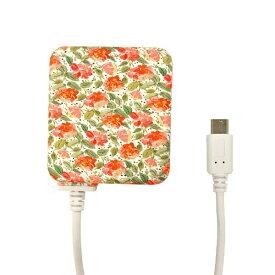 ラスタバナナ RastaBanana [micro USB] ケーブル一体型AC充電器 2.1A 1.6m ピンクブーケ R16ACM2A01PKB