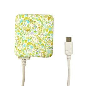 ラスタバナナ RastaBanana [micro USB] ケーブル一体型AC充電器 2.1A 1.6m R16ACM2A01ELR エメラルド・リエール