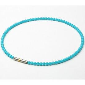ファイテン PHITEN RAKUWAネック メタックス クリスタルタッチ(ターコイズブルー/45cm) 0217TG742152