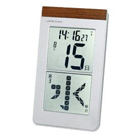 アデッソ ADESSO 掛け置き兼用時計 【ADESSO(アデッソ)】 シルバー HM-301 [電波自動受信機能有]