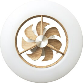 ドウシシャ DOSHISHA リモコン付サーキュレーター搭載機能LEDシーリングライト DCC-12CMLW [有 /12畳 /白色〜電球色][照明 扇風機 DCC12CMLW]