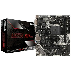 ASROCK アスロック マザーボード A320M-HDV R4.0 [MicroATX]