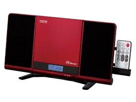 コイズミ KOIZUMI CDラジオ(ラジオ+SD+USBメモリー+CD) SDB4342R レッド [Bluetooth対応 /ワイドFM対応]