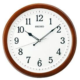 セイコー SEIKO 掛け時計 【教室の時計】 茶木地 KX254B [電波自動受信機能有]