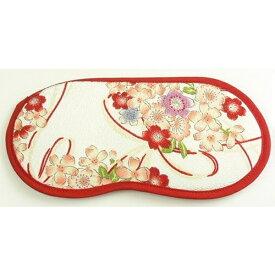 宇仁繊維ファッション Uni Textile アイマスク(桜結び 白)