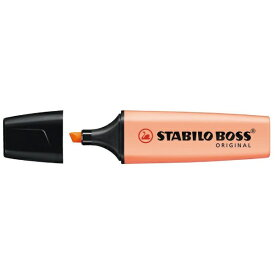 STABILO スタビロ [蛍光マーカー] BOSS ORIGINAL Pastel ボス オリジナル パステル 70-126 ピーチ