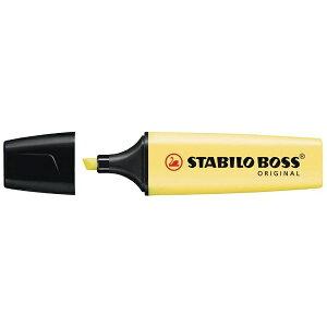 STABILO スタビロ [蛍光マーカー] BOSS ORIGINAL Pastel ボス オリジナル パステル 70-144 イエロー