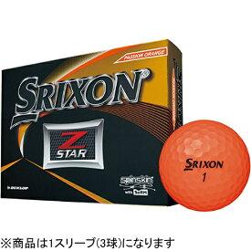 ダンロップ スリクソン DUNLOP SRIXON ゴルフボール スリクソン Z-STAR プレミアムパッションオレンジ SNZS6ORG3 [3球(1スリーブ) /スピン系]【オウンネーム非対応】