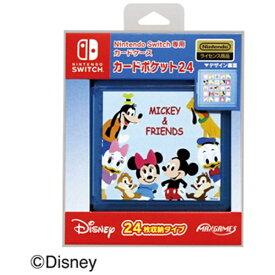 マックスゲームズ Nintendo Switch専用カードポケット24 ミッキー&フレンズ HACF-02MKF【Switch】