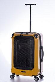 A.L.I アジア・ラゲージ スーツケース ハードキャリー 59L La PANTHEON(ラ パンテオン) イエロー+カーボン PTK-1000-24 [TSAロック搭載]
