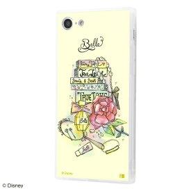 イングレム Ingrem iPhone SE(第2世代)4.7インチ/ iPhone 8 / 7 /『ディズニーキャラクター OTONA』/耐衝撃ガラスケース KAKU SILK/『ベル/OTONA Princess』 IQ-DP7K2C/BL001