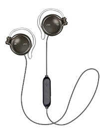 JVC ジェイブイシー ブルートゥースイヤホン 耳かけ型 HA-AL102BT-B オニキスブラック [リモコン・マイク対応 /ワイヤレス(左右コード) /Bluetooth]
