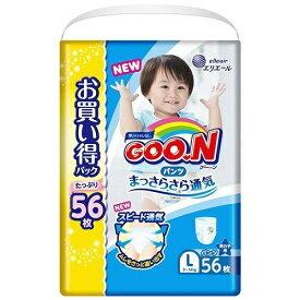 大王製紙 GOON(グーン)パンツまっさらさら通気Lサイス(9kg-14kg) 56枚 男の子用〔おむつ〕