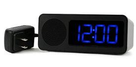 フォルミア Formia 目覚まし時計 【Formia(フォルミア)】 ブラック HT-011RCFMRD [デジタル /電波自動受信機能有]