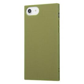 イングレム Ingrem iPhone SE(第2世代)4.7インチ/ iPhone 8/7 耐衝撃ソフトケース KAKU/カーキ・グリーン IN-P7STK1/G カーキグリーン