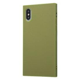 イングレム Ingrem iPhone XS/X 耐衝撃ソフトケース KAKU/カーキ・グリーン IN-P20TK1/G カーキグリーン
