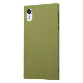 イングレム Ingrem iPhone XR 耐衝撃ソフトケース KAKU/カーキ・グリーン IN-P18TK1/G カーキグリーン