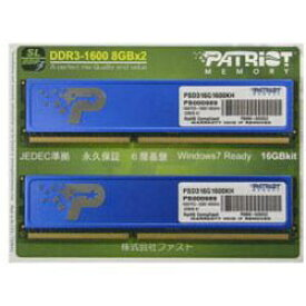 PATRIOT パトリオット PSD316G1600KH(8GBx2/1333MHz/CL11)