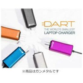 FINSiX フィンシックス ノートパソコン用 ACアダプター 65W「DART」 +タブレット・スマホ対応[AC - USB Type-A充電器:1ポート] DA65US-GM1 ガンメタル[DA65USGM1]