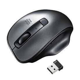 サンワサプライ SANWA SUPPLY MA-WBTBL135GM マウス ガンメタ [BlueLED /5ボタン /USB /無線(ワイヤレス)][MAWBTBL135GM]