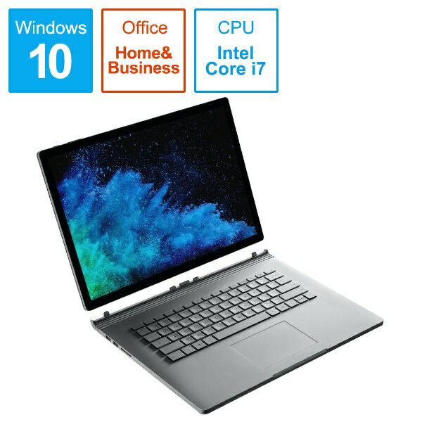 マイクロソフト Microsoft FUX-00023 Windowsタブレット ノートパソコン Surface Book 2 (サーフェスブック2) シルバー [15.0型 /intel Core i7 /SSD:512GB /メモリ:16GB /2019年1月モデル][FUX00023]