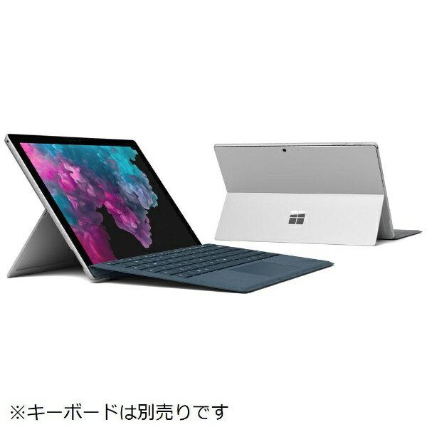 マイクロソフト Microsoft KJW-00017 Windowsタブレット Surface Pro 6(サーフェスプロ6) シルバー [12.3型 /intel Core i7 /SSD:1TB /メモリ:16GB /2019年1月モデル][KJW00017]