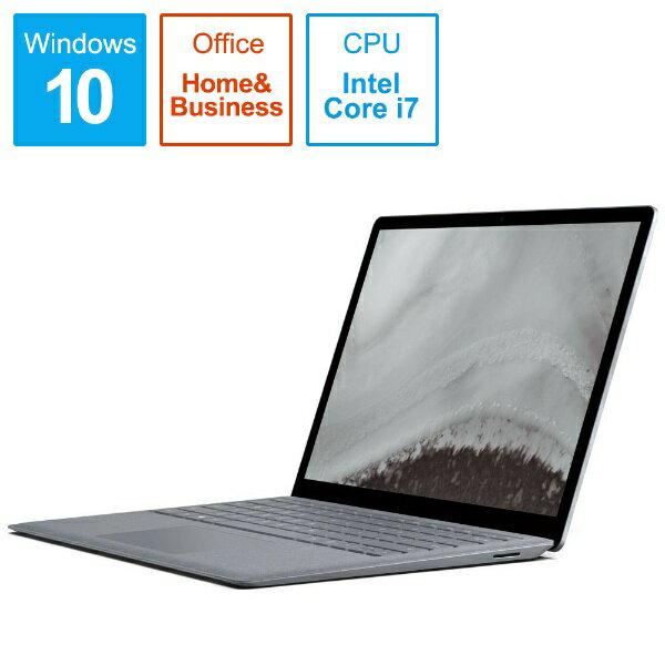 マイクロソフト Microsoft LQQ-00055 ノートパソコン Surface Laptop 2(サーフェス ラップトップ2) プラチナ [13.5型 /intel Core i7 /SSD:256GB /メモリ:8GB /2019年1月モデル][LQQ00055]