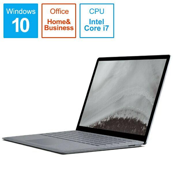 マイクロソフト Microsoft LQU-00025 ノートパソコン Surface Laptop 2(サーフェス ラップトップ2) プラチナ [13.5型 /intel Core i7 /SSD:1TB /メモリ:16GB /2019年1月モデル][LQU00025]
