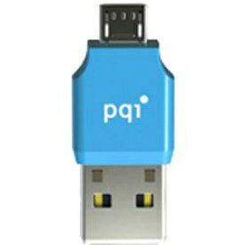 PQIジャパン タブレット/スマートフォン対応[micro USB ⇔ USB-A]カードリーダー Connect 203 RF01-0011R0 ブルー