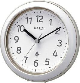 リズム時計 RHYTHM 掛け時計 掛置き兼用 強化防滴・防塵型 アクアパークDN グレー 4KG711DN08