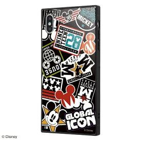 イングレム Ingrem iPhone XS Max /『ディズニーキャラクター』/耐衝撃ガラスケース KAKU/『Collage/ブラック』 IQ-DP19K1B/MK002