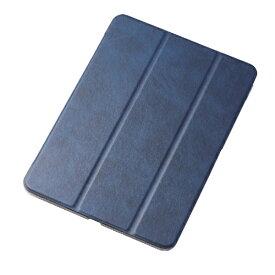 エレコム ELECOM iPad Pro 11インチ 2018年モデル フラップカバー 極み設計 ソフトレザーカバー 2アングル スリープ対応 ブルー TB-A18MWVKBU ブルー