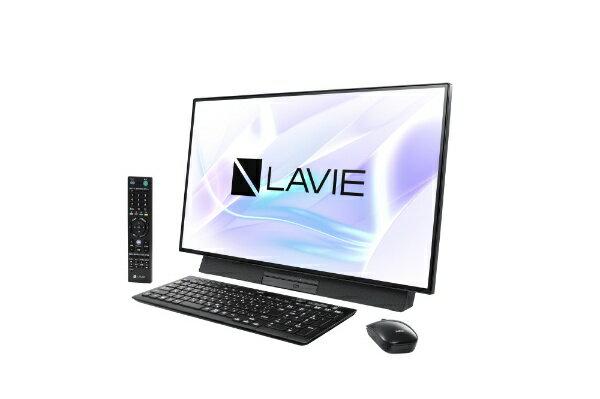 NEC エヌイーシー 【エントリーでポイント最大37倍 マラソン期間限定】LAVIE Desk All-in-one(DA970/MAB ダブルチューナ搭載) デスクトップパソコンPC-DA970MAB ファインブラック [27型 /HDD:3TB /Optane:16GB /メモリ:8GB /2019年春モデル]