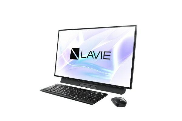 NEC エヌイーシー LAVIE Desk All-in-one(DA500/MAB) デスクトップパソコン [27型 /CPU:Core i5 /HDD:1TB /Optane:16GB /メモリ:4GB /2019年春モデル] PC-DA500MAB ファインブラック [27型 /HDD:1TB /Optane:16GB /メモリ:4GB /2019年春モデル][PCDA500MAB]