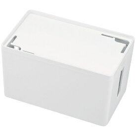 サンワサプライ SANWA SUPPLY ケーブル&タップ収納ボックス Sサイズ (W230×D140×H132mm・ホワイト) CB-BOXP1WN2[CBBOXP1WN2]
